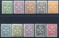 (1967) MiNr. P 28 - 37 Bx ** - Malta - Doplatní zámky 1967-70