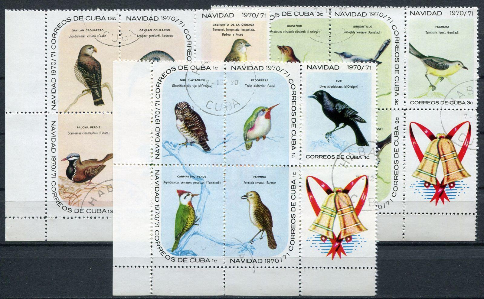 (1970) MiNr. 1644 - 1658 - O - bl. + K - Kuba - Vánoce: ptáci   www.tgw.cz