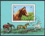 (1970) MiNr. 587 ** Block 33A - Fudžajra - koně