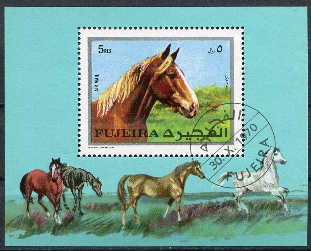(1970) MiNr. 587 ** Block 33A - Fudžajra - koně | www.tgw.cz