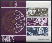 (1972) MiNr. 454 - 456 ** - BLOCK 2 - Malta - Vánoce 1972