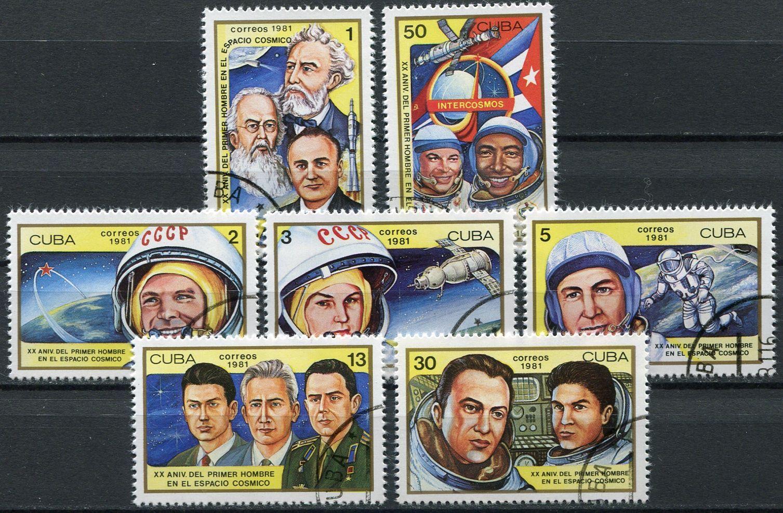 (1981) MiNr. 2548 - 2554 - O - Kuba - Vesmír a kosmonautika