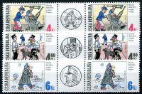 (1997) MiNr. 153-155 ** S - Tschechische Republik - Guten Soldaten Švejk