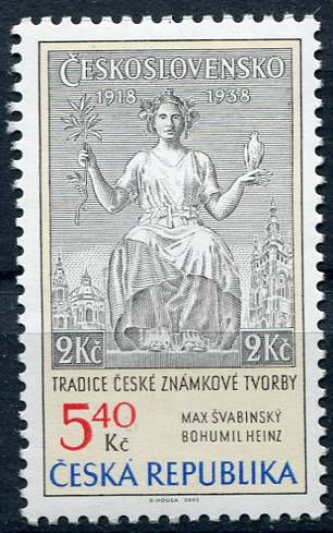 (2002) č. 313 ** - Česká republika - Tradice české známkové tvorby | www.tgw.cz