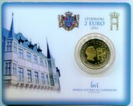 (2004) 2€ - Lucembursko - Monogram, velkovévoda Henri - mincovní karta