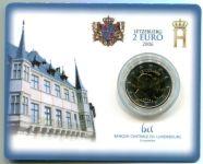(2006) 2€ - Lucembursko - 25. narozeniny velkovévody Guillauma - mincovní karta