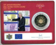 (2012) 2€ - Lucembursko - 10. výročí Eura - mincovní karta