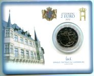 (2012) 2 € - Luxembourg - Grand Duke Wilhelm IV - coin card