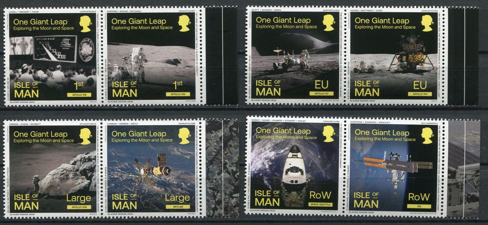 (2020) MiNr. 2551 - 2558 ** sp - Isle of Man - Lidé na Měsíci (II.)   www.tgw.cz