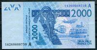 CFA- Pobřeží slonoviny (A) - (P 116 An) 2000 Franks (2014) - UNC