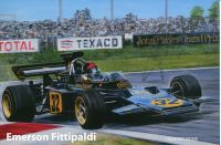 Emerson Fittipaldi in Prague (2020) - official signature card