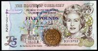 Guernsey - (P 56c)  5 Pounds (2007) - UNC