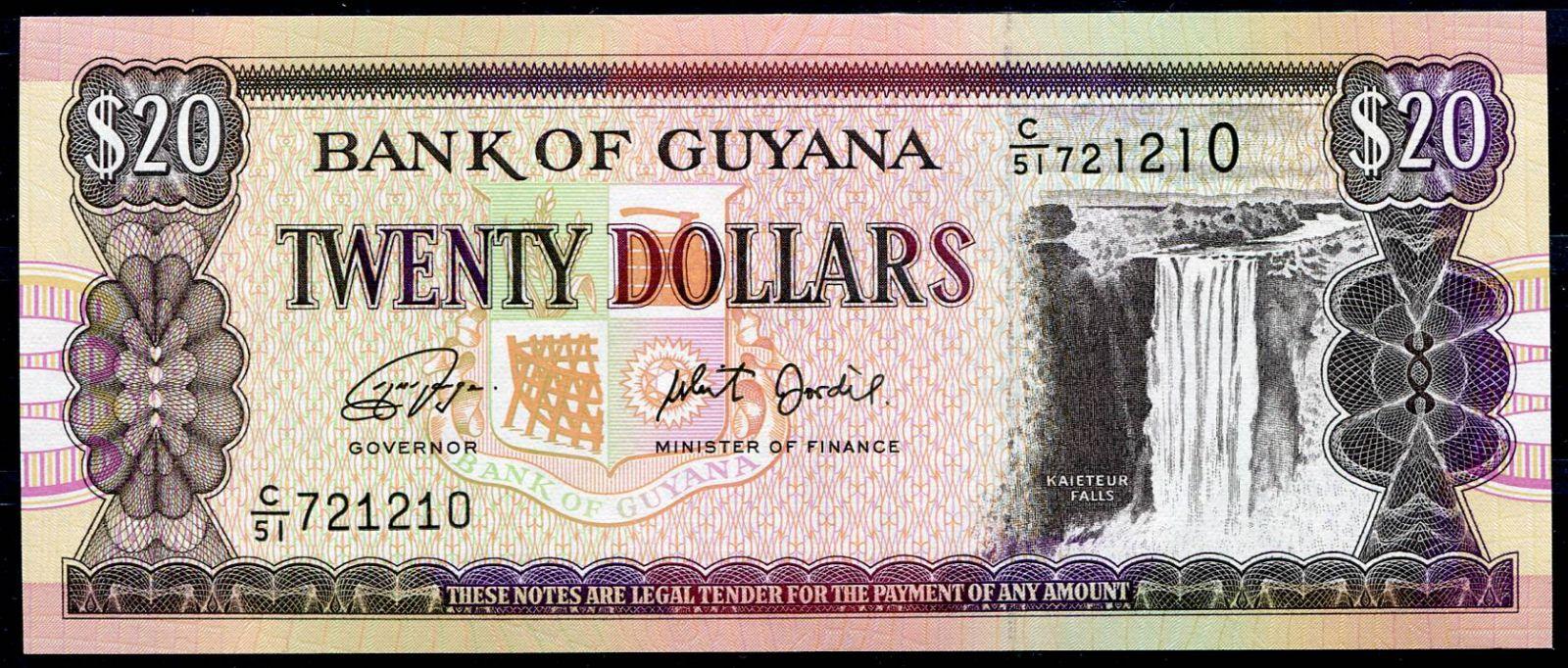 Guyana (P 30g) - 20 dolarů (2018) - UNC | www.tgw.cz