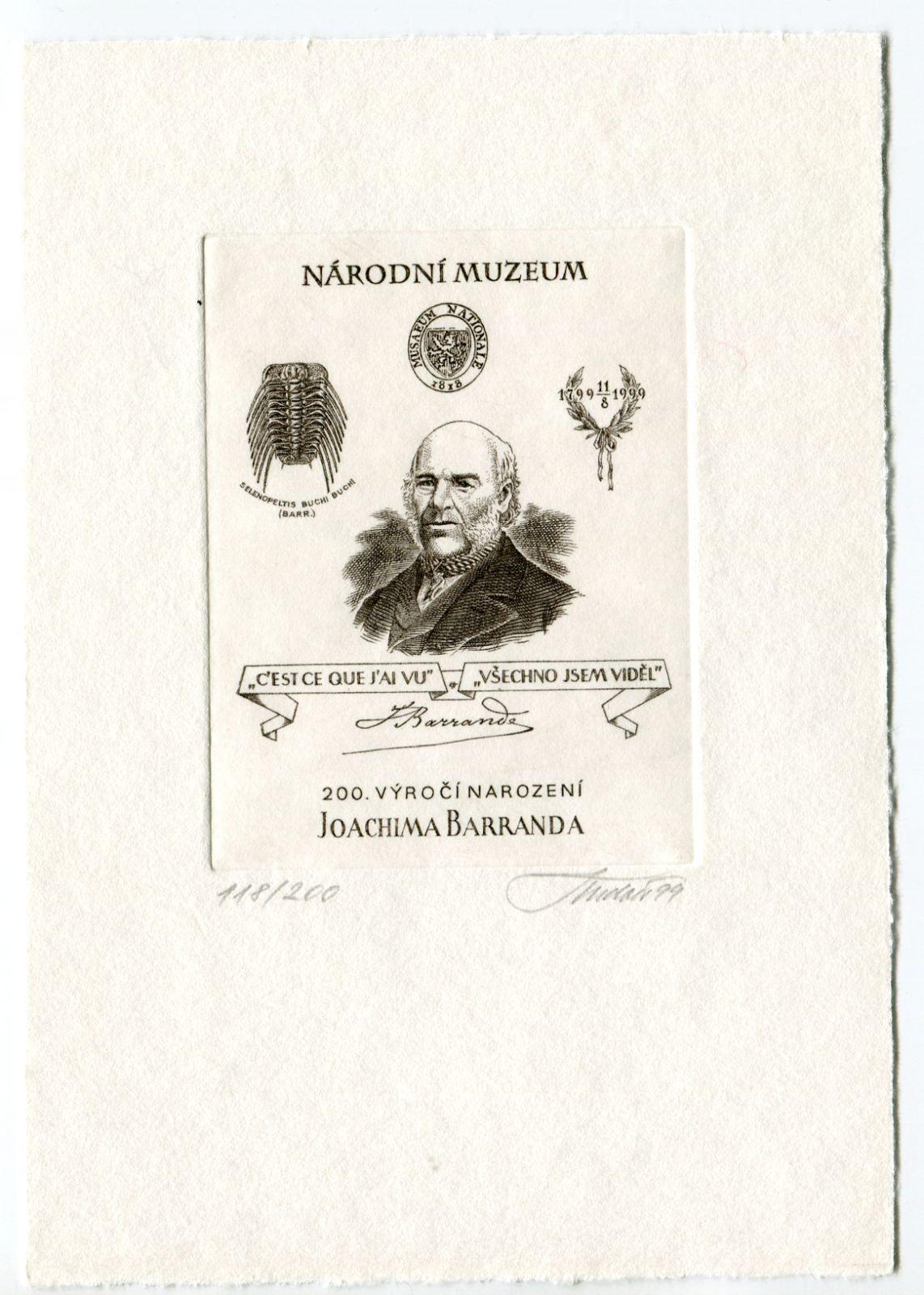 Národní Muzeum - Joachim Barrande - černotisk (118/200) | www.tgw.cz
