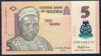 Nigerie - (P 38i) 5 NAIRA (2018) - UNC polymer