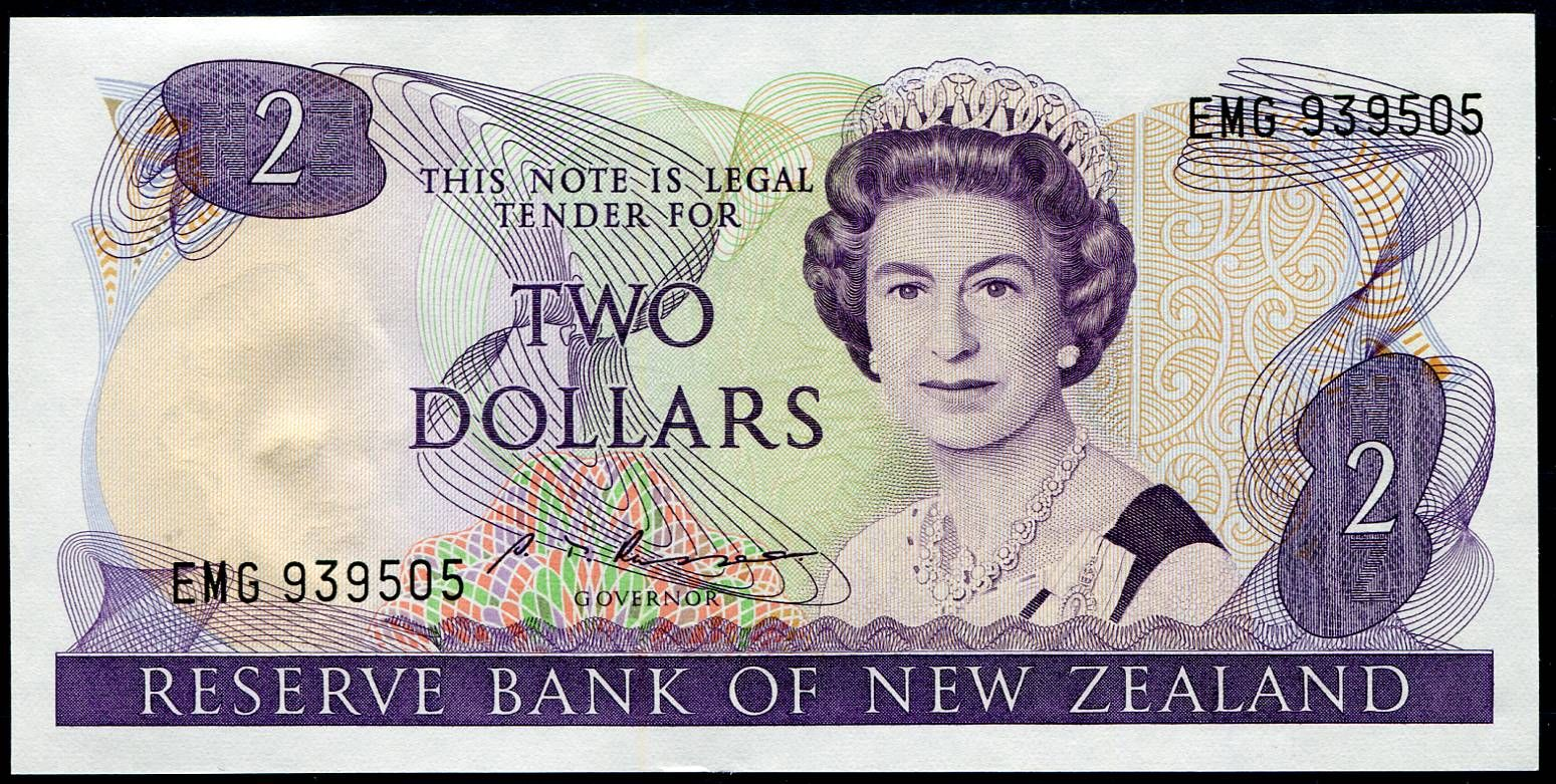 Nový Zéland (P 170b) - 2 Dollars (1985) - UNC | www.tgw.cz