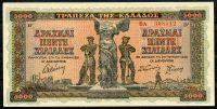 Řecko - (P 119b) 5000 Drachmai (1942) - UNC