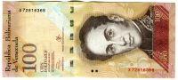 Venezuela (P 93h.1) - 100 bolivares (29.10.2013) - UNC