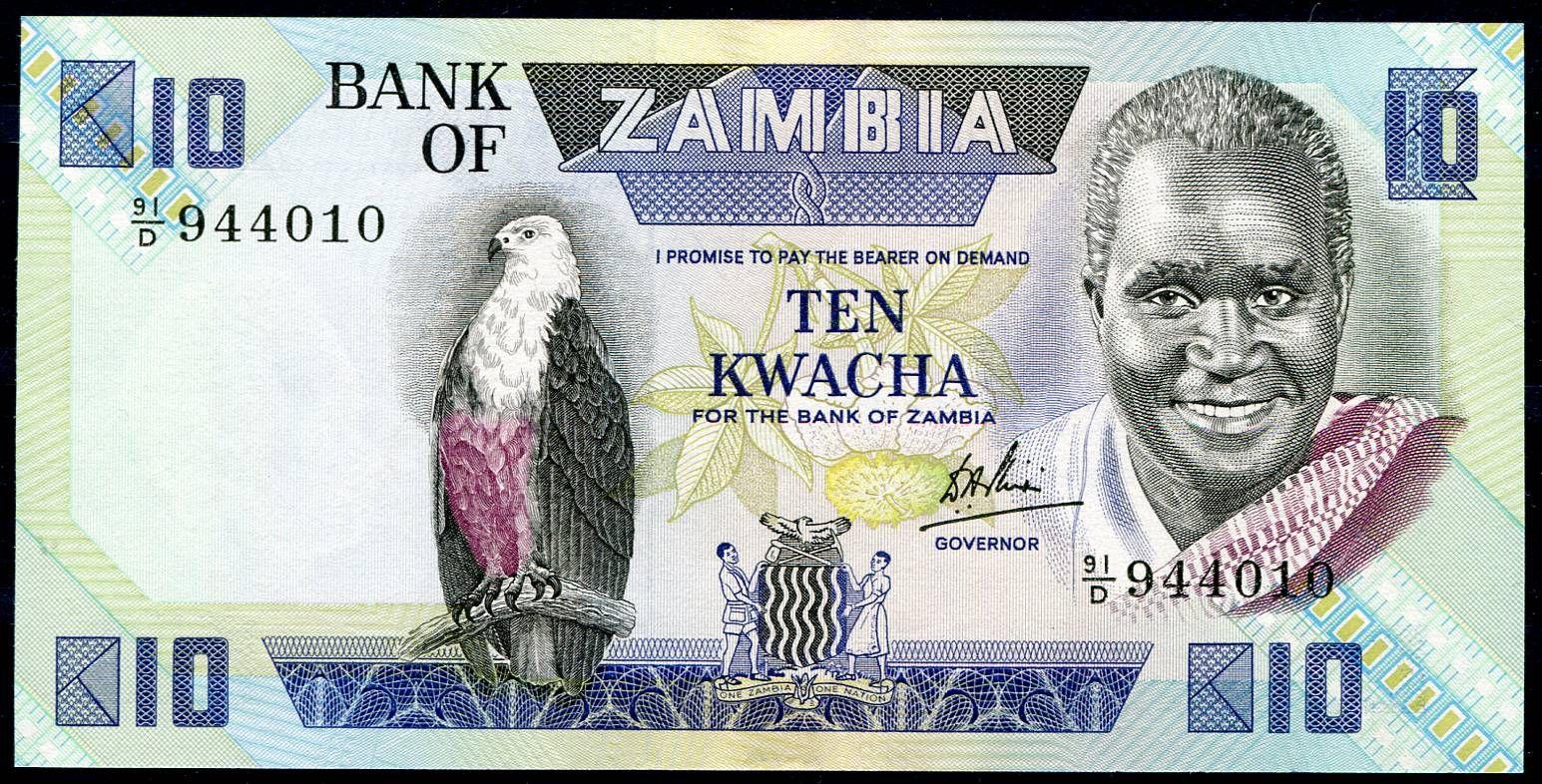 Zambie - (P 26d) 10 Kwacha (1984) - UNC | www.tgw.cz