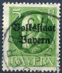 (1919) MiNr. 117 II. A - O - Bayern - Král Ludvík III. - přetisk