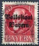 (1919) MiNr. 119 II. A - O - Bayern - Král Ludvík III. - přetisk