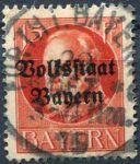 (1919) MiNr. 120 II. A - O - Bayern - Král Ludvík III. - přetisk