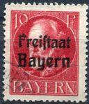 (1919) MiNr. 155 A - O - Bayern - Král Ludvík III. - přetisk