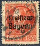 (1919) MiNr. 156 A - O - Bayern - Král Ludvík III. - přetisk