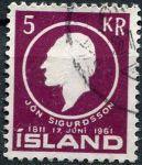 (1961) MiNr. 351 - O - Island - Jón Sigurdsson