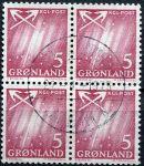 (1963) MiNr. 48 - O - 4-bl - Grónsko - Polární záře