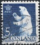(1963) MiNr. 60 - O - Grónsko - lední medvěd