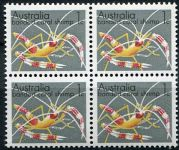 (1973) MiNo. 526 **, 4-er - Australien - Korallengarnelen