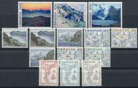 (1975) MiNr. 7 - 20 ** - Faerské ostrovy - mapy a obrazy