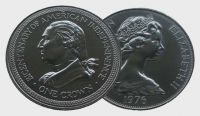 (1976) Isle of Man - 1 Crown - 200th Anniversary of American Independence (0/0)