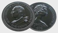 (1976) Isle of Man -  1 Crown - dvousté výročí americké nezávislosti (0/0)