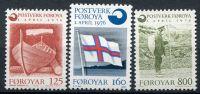 (1976) MiNr. 21 - 23 ** - Faerské ostrovy - Vznik faerské pošty