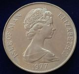 (1977) Isle of Man -  1 Crown - Jubilejní koruna 1952 -1977 (1/1)