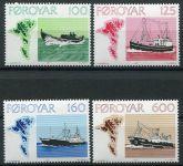 (1977) MiNr. 24 - 27 ** - Faerské ostrovy - Rybářské lodě