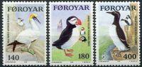 (1978) MiNr. 36 - 38 ** - Faerské ostrovy - Mořští ptáci
