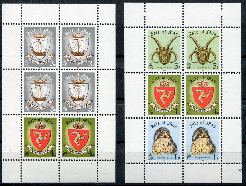 (1980) MiNr. 144 + 145II + 180 + 181 ** - Isle of Man - ZS (listy)   www.TGW.cz