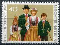 (1980) MiNr. 754 ** - Lichtenštejnsko - Lichtenštejnské kroje (II.)