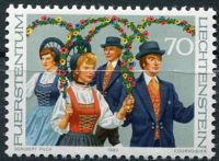 (1980) MiNr. 755 ** - Lichtenštejnsko - Lichtenštejnské kroje (II.)