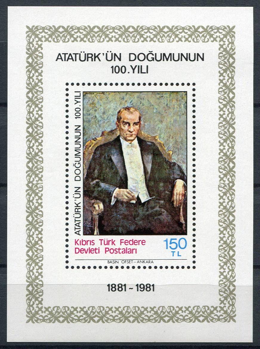 (1981) MiNr. 100 **, Block 2 - Severní Kypr (turecký) - Atatürk   www.tgw.cz