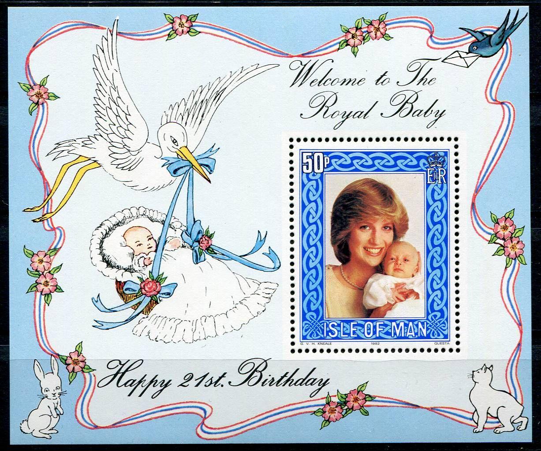 (1982) MiNr. 219 **, Block 6 - Isle of Man - Diana s William | www.tgw.cz