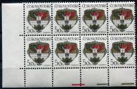 (1990) č. 2934 **, 8-bl - Československo - Znaky československých měst - Poděbrady   www.tgw.cz