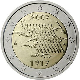 (2007) 2€ - Finsko - 90. výročí nezávislosti Finska (BU)   www.tgw.cz