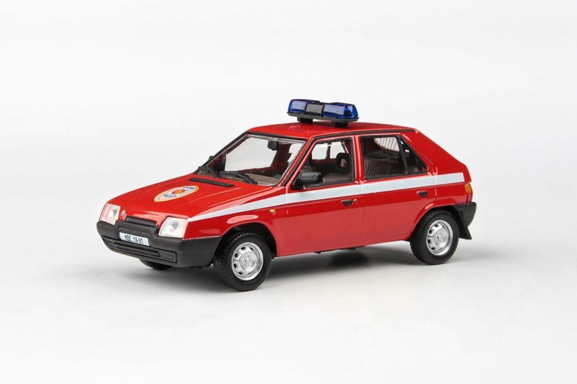 Abrex (1988) model Škoda Favorit 136L - Hasiči (1:43)   www.tgw.cz