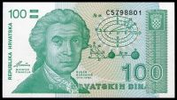 Chorvatsko - (P 20) 100 DINARA (1991) - UNC