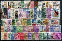 Sestava ražených známek USA - 70 ks