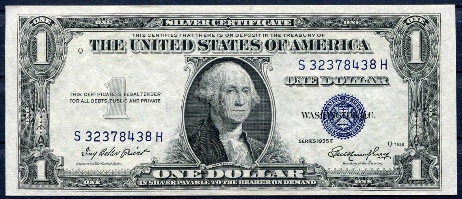 USA - P 416e - 1 dollar 1935 E série (S-H) - UNC (modrá pečeť) | www.tgw.cz